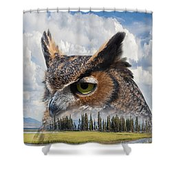 Owl's Rest Shower Curtain