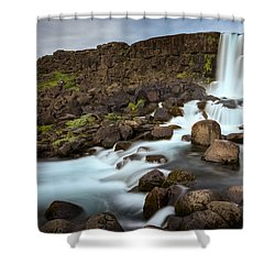 Oxararfoss Shower Curtain