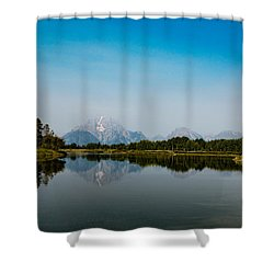 Shower Curtain featuring the photograph Oxbow Bend by Cathy Donohoue