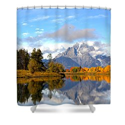 Mt Moran At Oxbow Bend Shower Curtain