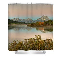 Shower Curtain featuring the photograph Oxbow Bend by Gary Lengyel