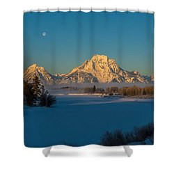 Oxbow Bend In Late Winter Shower Curtain by Yeates Photography