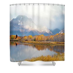 Oxbow Bend Turnout, Grand Teton National Park Shower Curtain