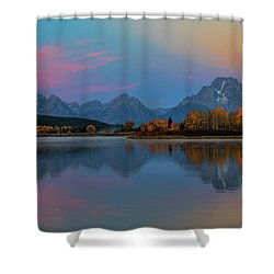 Oxbows Reflections Shower Curtain by Edgars Erglis