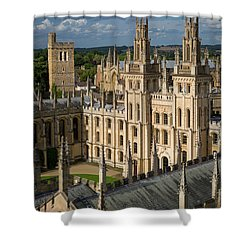 Shower Curtain featuring the photograph Oxford Spires by Brian Jannsen