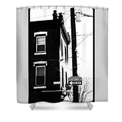 Shower Curtain featuring the photograph Oxford St by Christopher Woods