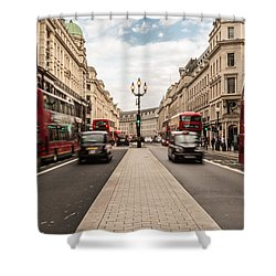 Oxford Street In London Shower Curtain