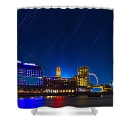Oxo Tower Star Trails Shower Curtain by David French