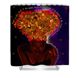 Oya Shower Curtain by Iowan Stone-Flowers