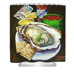 Oyster And Crystal Shower Curtain