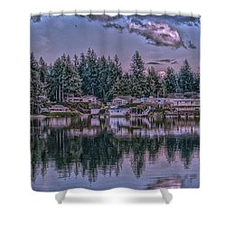 Oyster Bay 1 Shower Curtain by Timothy Latta