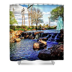 Oyster Creek Shower Curtain by JB Thomas
