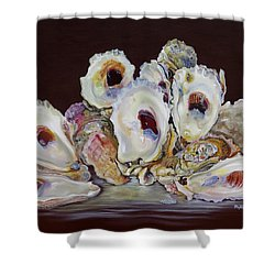 Oyster Shell Study At Low Tide Shower Curtain