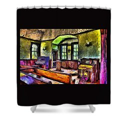 Oysterville Church Interior Shower Curtain