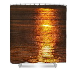 Ozark Lake Sunset Shower Curtain by Don Koester