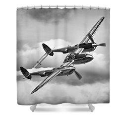P-38 Lightning Shower Curtain by Ian Merton