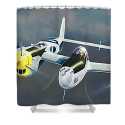 P-38 On The Prowl Shower Curtain
