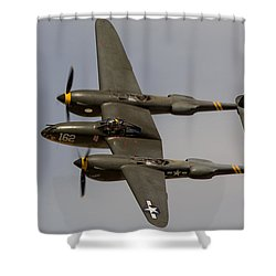 P-38 Skidoo Shower Curtain