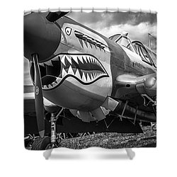 P-40 Warhawks - Bw Series Shower Curtain