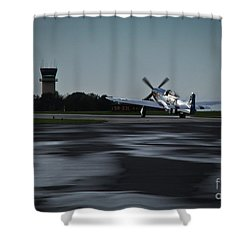 Shower Curtain featuring the photograph P-51  by Douglas Stucky