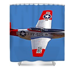 P-51d Mustang Flyby Shower Curtain
