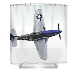 P-51 D Wing Over Shower Curtain