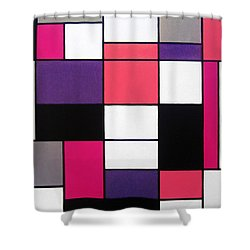 P Cubed Shower Curtain by Oliver Johnston