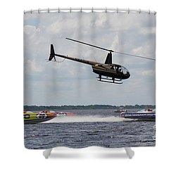 P1 Powerboats Shower Curtain