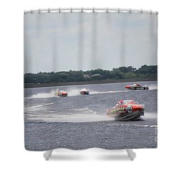 P1 Powerboats Orlando 2016 Shower Curtain