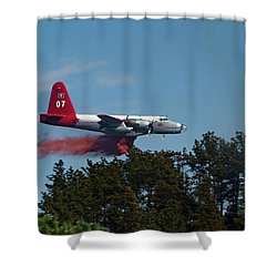 P2v Red Canyon Fire Shower Curtain