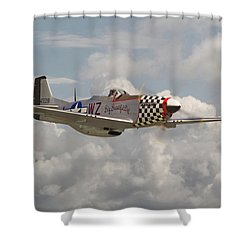 P51 Mustang - Ww2 Classic Icon Shower Curtain