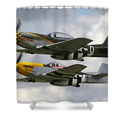 P51 Mustangs Shower Curtain