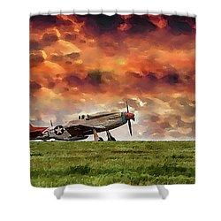 P51 Warbird Shower Curtain