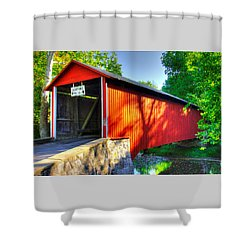 Pa Country Roads - Witherspoon Covered Bridge Over Licking Creek No. 4b - Franklin County Shower Curtain