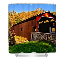 Pa Covered Bridge Shower Curtain