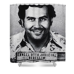 Pablo Escobar Mug Shot 1991 Vertical Shower Curtain by Tony Rubino