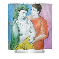 Attirant Pablo Picasso Shower Curtain