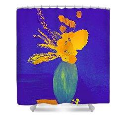 Pablo's Vase Shower Curtain by Bill OConnor