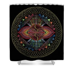 Shower Curtain featuring the painting Pachamama by Keiko Katsuta