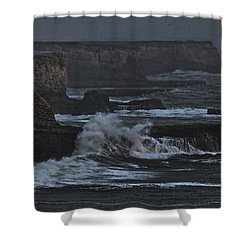 Pacific Cliffs Of Davenport Shower Curtain