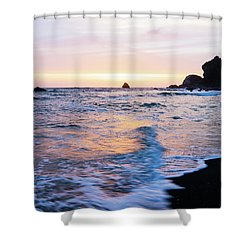 Shower Curtain featuring the photograph Pacific Coast Sunset by TL Mair