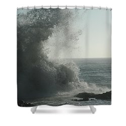 Pacific Crash Shower Curtain
