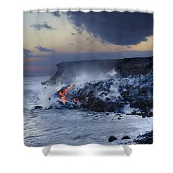 Pacific Lava Flow Shower Curtain by Dave Fleetham - Printscapes
