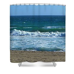 Pacific Ocean - Malibu Shower Curtain
