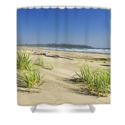 Pacific Ocean Shore On Vancouver Island Shower Curtain by Elena Elisseeva