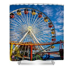 Pacific Park 5 Shower Curtain by Robert Hebert