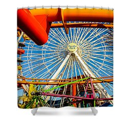 Shower Curtain featuring the photograph Pacific Park by Robert Hebert