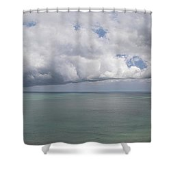 Pacific Storm Panorama Shower Curtain