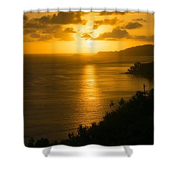Pacific Sunrise Over Kilauea Lighthouse  Shower Curtain