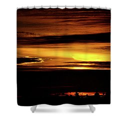 Pacific Sunset Shower Curtain by Diane Lent